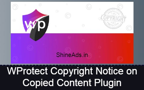 WProtect Copyright Notice on Copied Content Plugin