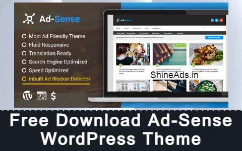 Free Download Ad-Sense WordPress Theme