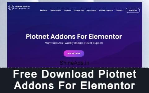 Free Download Piotnet Addons For Elementor