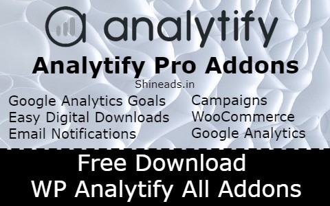 Free Download WP Analytify All Addons
