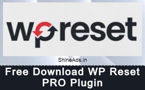 Free Download WP Reset PRO Plugin
