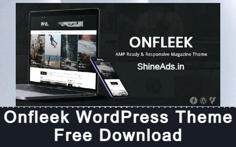 Onfleek WordPress Theme Free Download