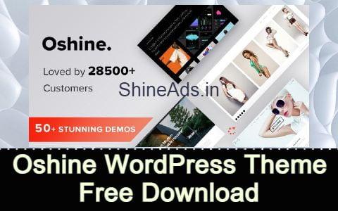 Oshine WordPress Theme Free Download