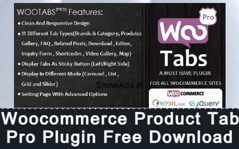 Woocommerce Product Tab Pro Plugin Free Download