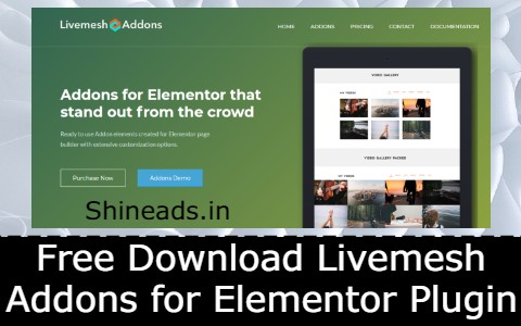 Free Download Livemesh Addons for Elementor Plugin