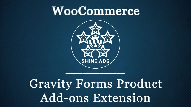 Gravity Forms Product Add-ons WooCommerce Extension