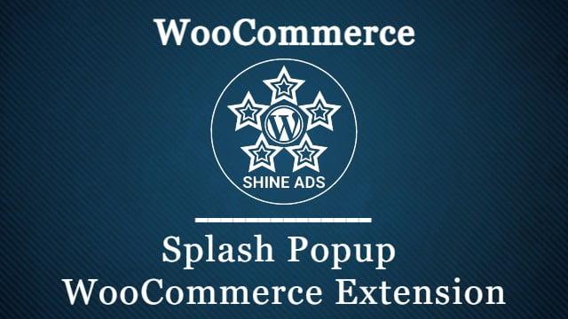 Splash Popup WooCommerce Extension