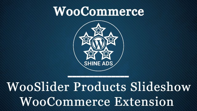 WooSlider Products Slideshow WooCommerce Extension