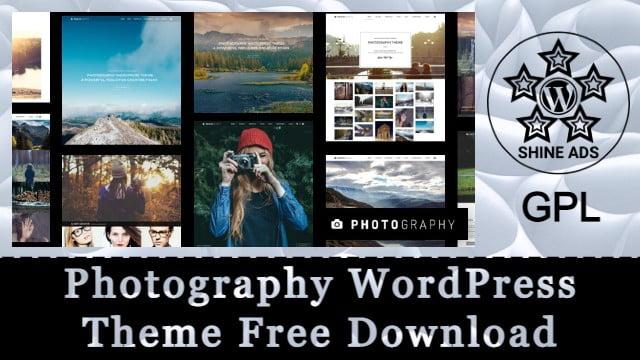 Photography WordPress Theme Free Download