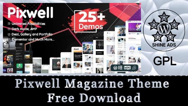 Pixwell Magazine Theme Free Download