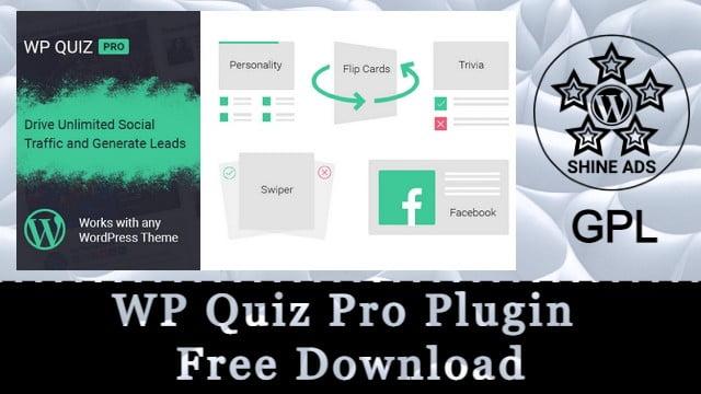 WP Quiz Pro Plugin Free Download