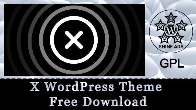X WordPress Theme Free Download