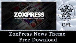 ZoxPress News Theme Free Download