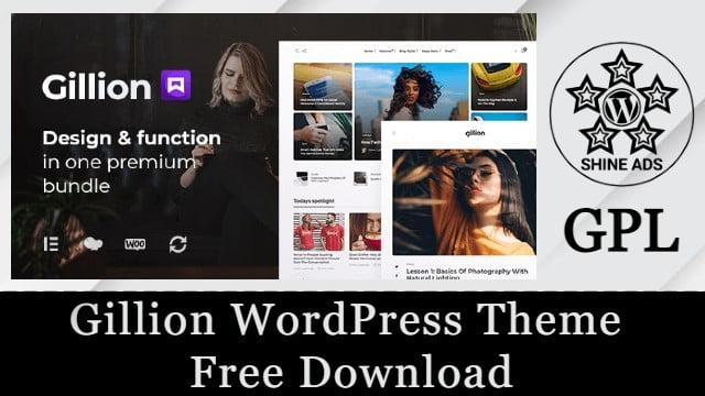 Gillion WordPress Theme  Free Download