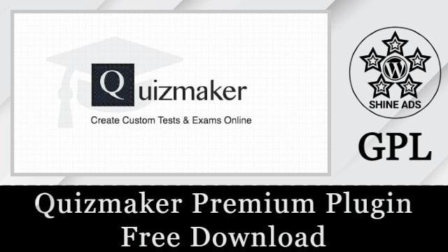 Quizmaker Premium Plugin Free Download