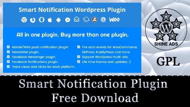 Smart Notification Plugin Free Download