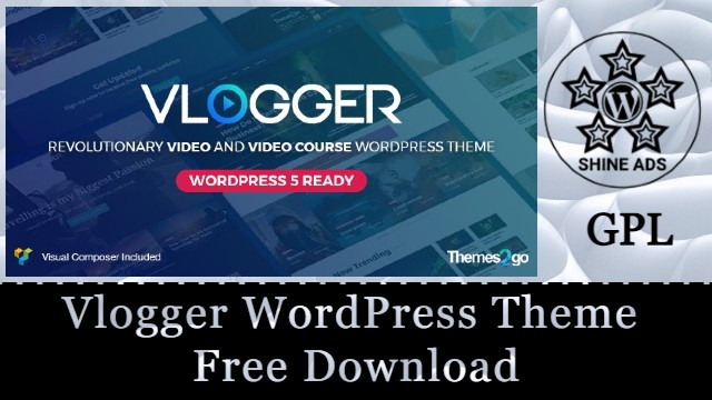 Vlogger WordPress Theme Free Download