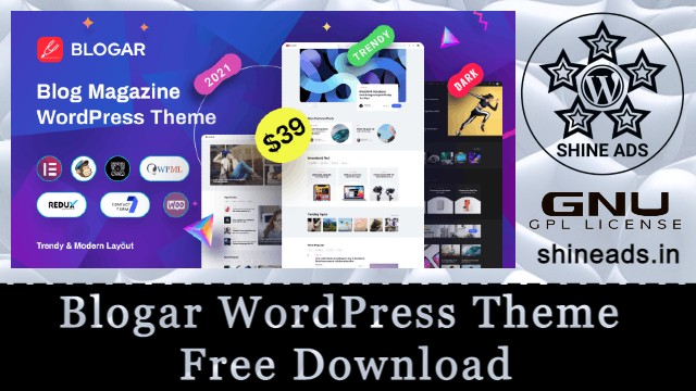Blogar WordPress Theme Free Download