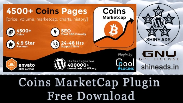 Coins MarketCap Plugin Free Download