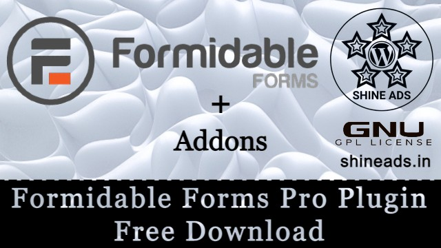 Formidable Forms Pro Plugin With All Addon Free Download