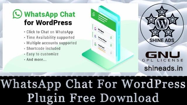WhatsApp Chat For WordPress Plugin Free Download