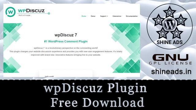 wpDiscuz Plugin Free Download