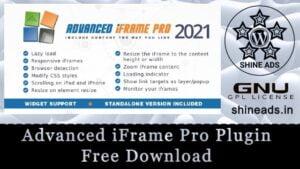 Advanced iFrame Pro Plugin Free Download