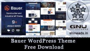 Bauer WordPress Theme Free Download