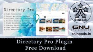 Directory Pro Plugin Free Download