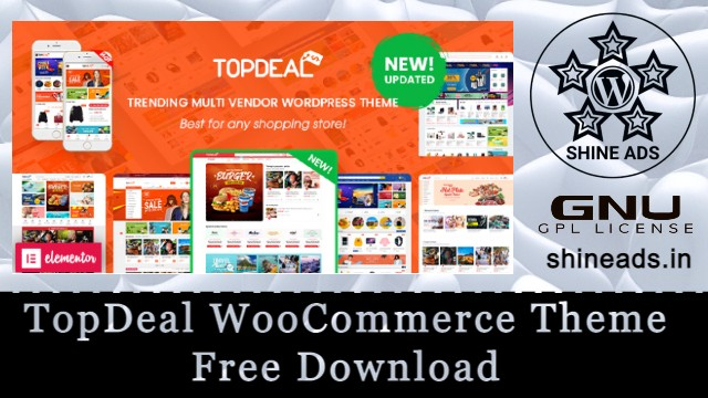 TopDeal WooCommerce Theme Free Download