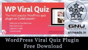 WordPress Viral Quiz Plugin Free Download